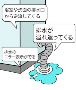 洗濯排水つまり