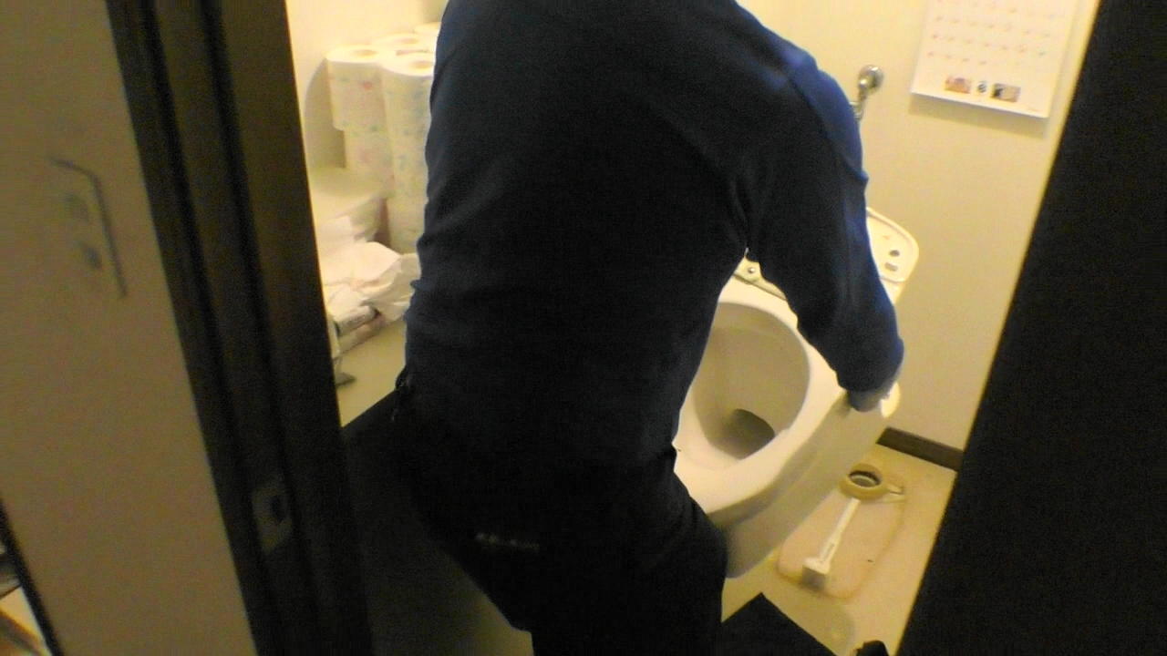 トイレ脱着作業
